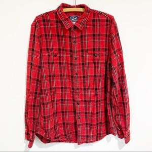 J Crew Sportsman Outfitter Plaid Flannel Red Large